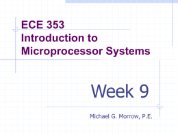 Week 1 PowerPoint - Michael G. Morrow
