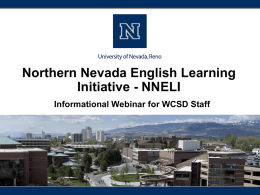 PowerPoint Presentation - University of Nevada, Reno