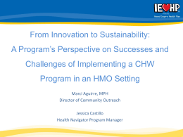 A Program`s Perspective on Successes and Challenges of