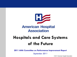 Hospitals and Care Systems of the Future