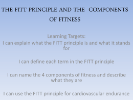 fitt principle and components of fitness