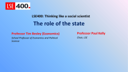 The Role of the State - London School of Economics and Political