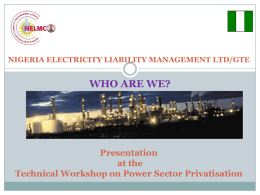 Role of NELMCO in the Power Sector Reform