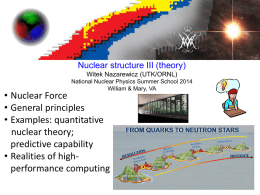pptx - Institute for Nuclear Theory