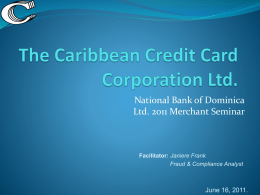 PCI DSS - National Bank of Dominica