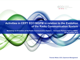 Activities in CEPT ECC/WGFM in relation to the Evolution of the