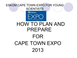 What makes a good poster? - Cape Town Expo for Young Scientists