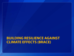 Building Resilience Against Climate Effects (BRACE)