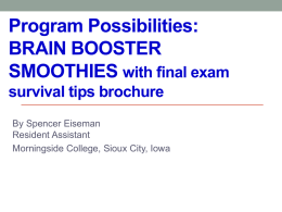 BRAIN BOOSTER SMOOTHIES with final exam survival