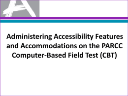 PowerPoint on How to Administer Accessibility Features