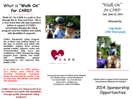 2014 Walk On for CARD sponsor opportunities