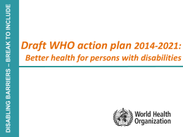 WHO action plan 2014–2021 - World Health Organization