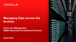 FY14 H1 Oracle on Oracle Global Activity Plan