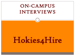 Hokies4Hire Steps to OCI Process