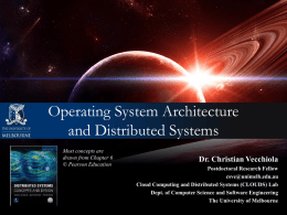 Operating System Architecture and Distributed