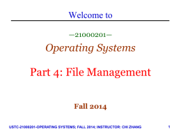 Operating System Security (II)