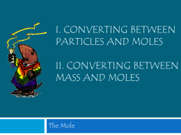 B. Converting Particles to Moles