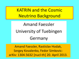 Search for the Cosmic Neutrino Background