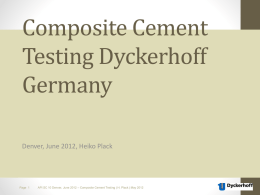 2012-06 Composite Cements - API Tests