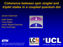 elzerman - New Frontiers in the Physics of Quantum Dots