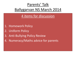 Parents - Ballygarvan National School