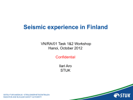 Seismic experience in Finland