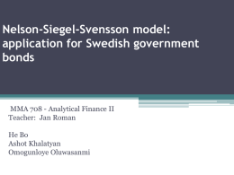 Nelson-Siegel Model - Analytical Finance