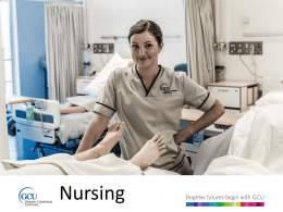 Nursing - Glasgow Caledonian University