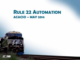 Rule 22 – Automation