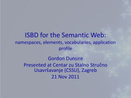 ISBD for the Semantic Web: namespaces