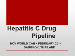 Hepatitis C Drug Pipeline
