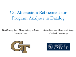 On Abstraction Refinement for Program Analyses in Datalog