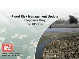 U.S. Army Corps of Engineers Flood Risk Management