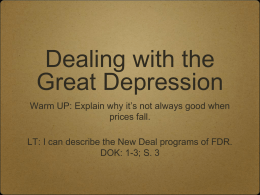Great Depression Fed Lesson 4 3days.ppt