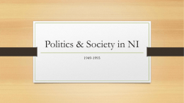 Politics & Society in NI