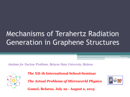 K.Batrakov, Mechanisms of Terahertz Radiation Generation in