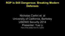 ROP is Still Dangerous: Breaking Modern Defenses
