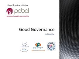 Good Governance Training Slides