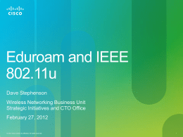 802.11u, Hotspot 2.0 and possible implications for eduroam