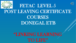 Level 5 - Donegal ETB
