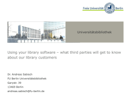 what third parties will know about our library customers