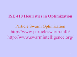 IE 607 Heuristic Optimization Introduction to Optimization