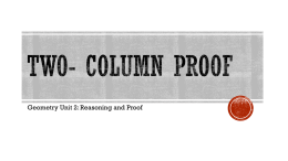 TwO- Column Proof