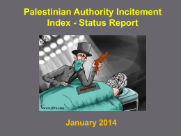 Palestinian Incitement Index