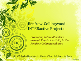 Promoting Interculturalism through Physical Activity in the Renfrew