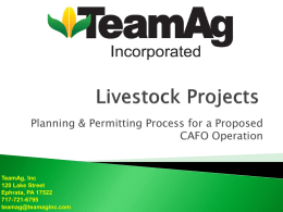 Livestock Projects (powerpoint)