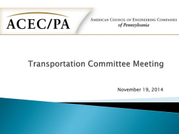 Transportation Committee Meeting Presentation
