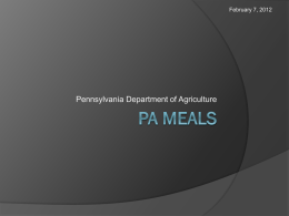 PA Meals