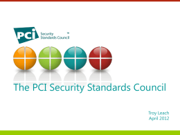 Mobile Payments Security and PCI implications