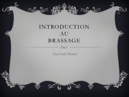 Introduction au Brassage